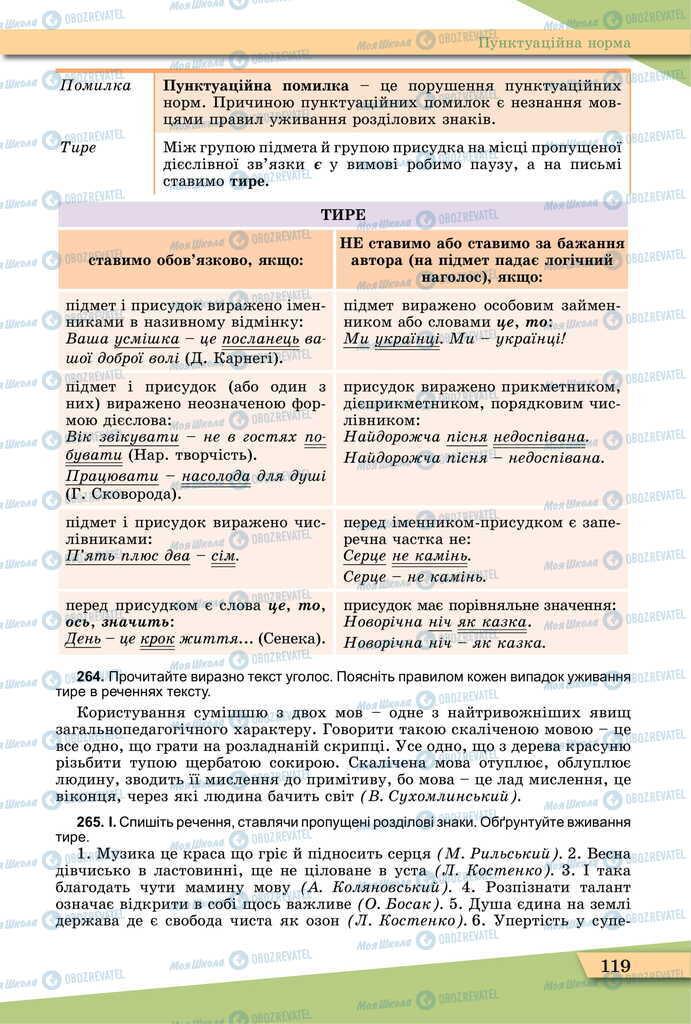 Учебники Укр мова 11 класс страница 119