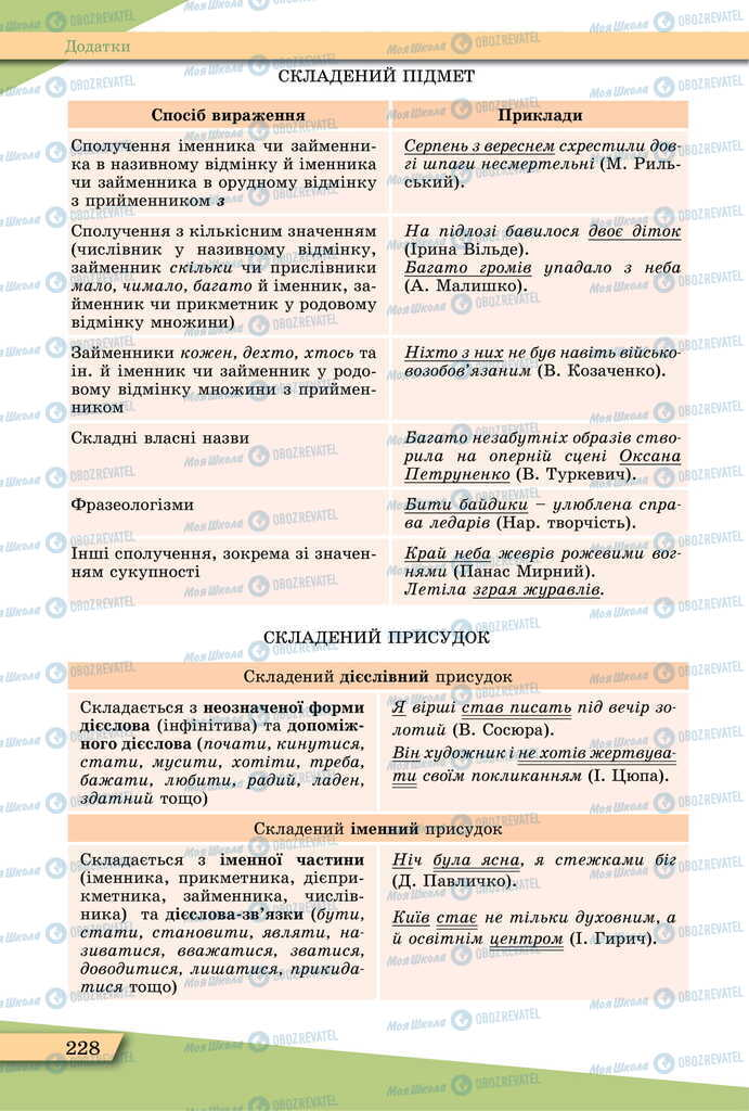 Підручники Українська мова 11 клас сторінка 228