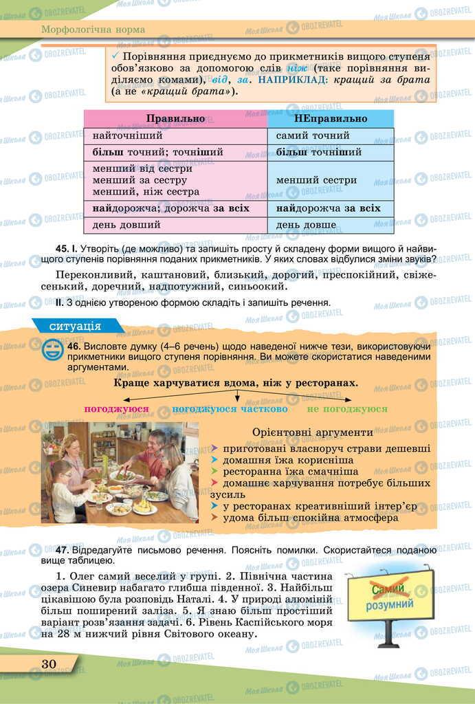 Учебники Укр мова 11 класс страница 30