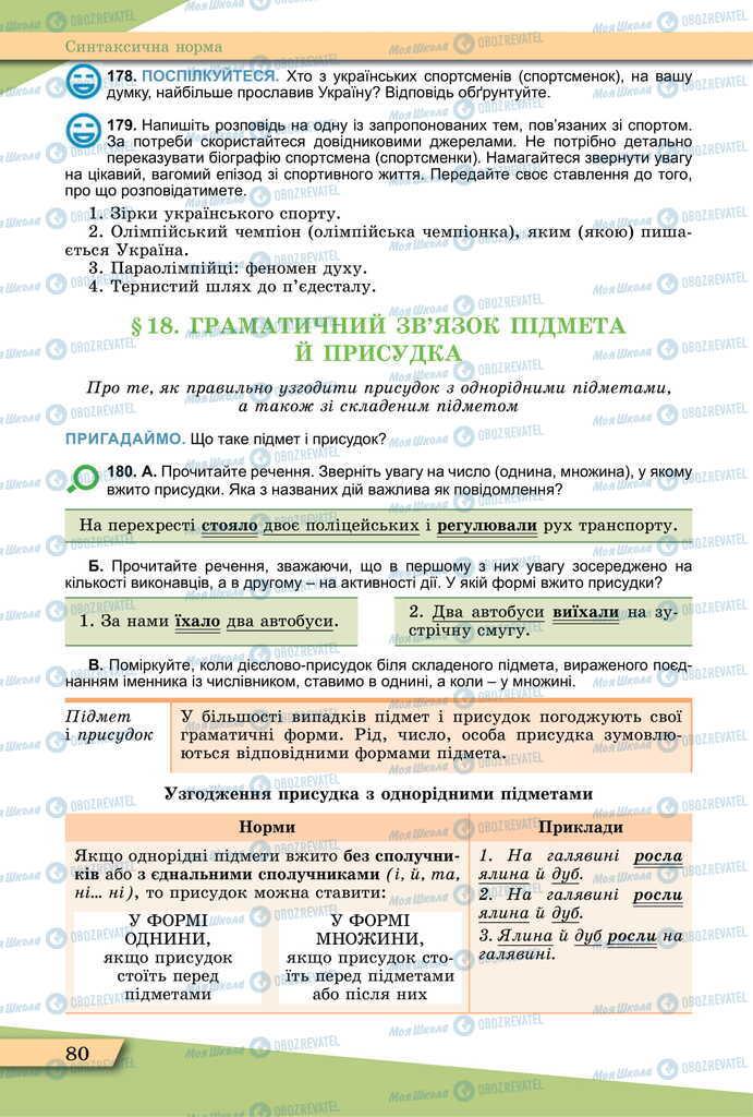 Підручники Українська мова 11 клас сторінка 80