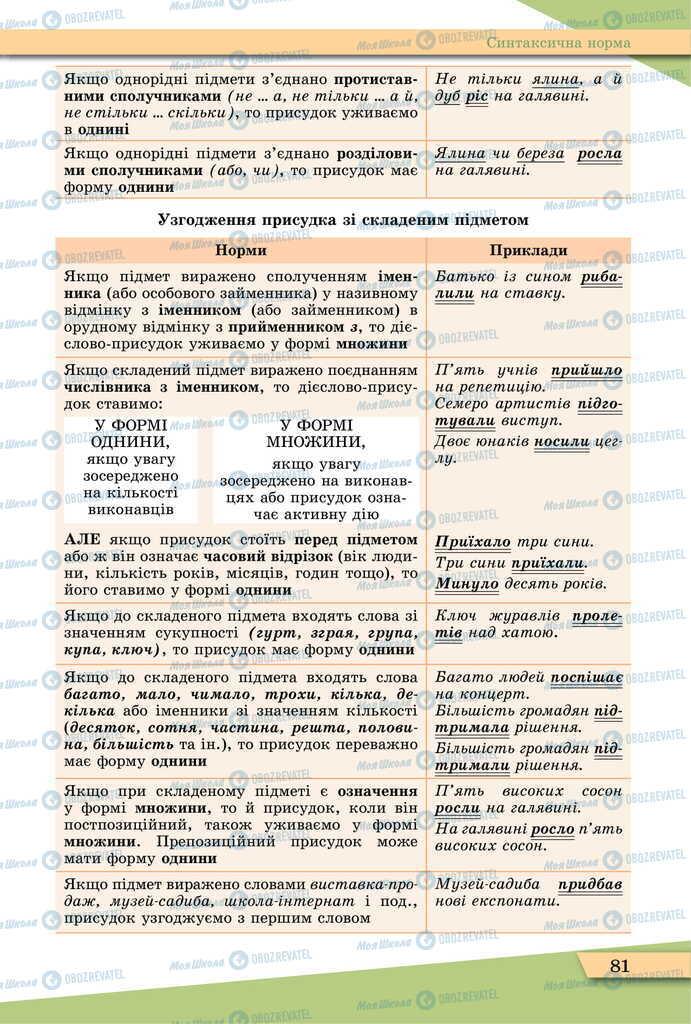 Учебники Укр мова 11 класс страница 81