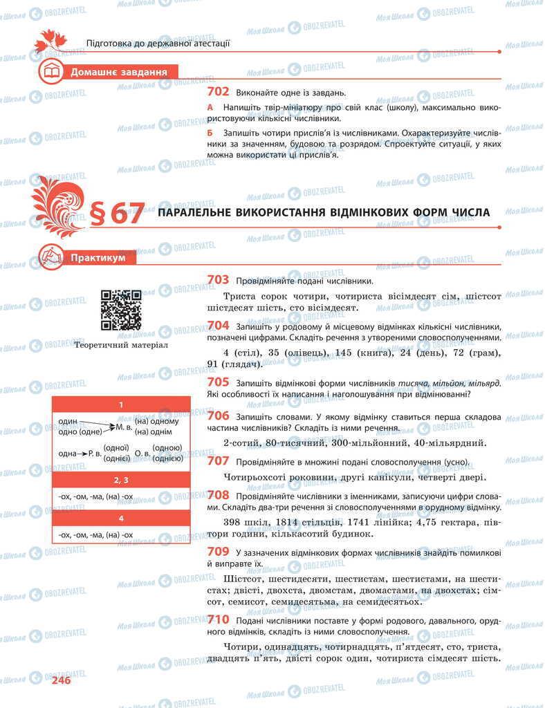 Підручники Українська мова 11 клас сторінка  246