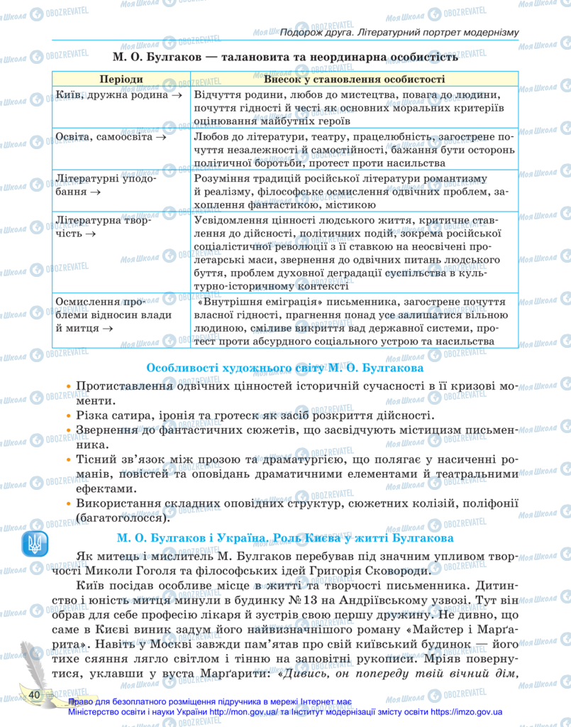 Учебники Зарубежная литература 11 класс страница 40