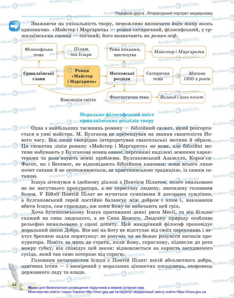 Учебники Зарубежная литература 11 класс страница 44