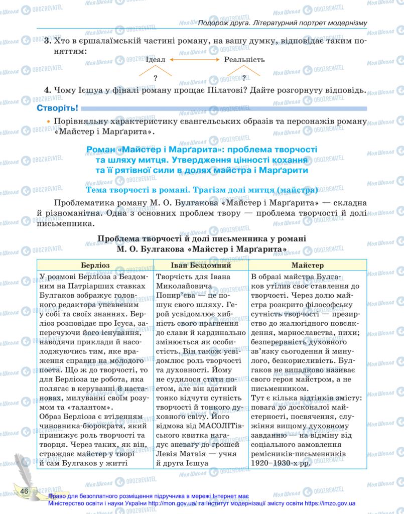 Учебники Зарубежная литература 11 класс страница 46