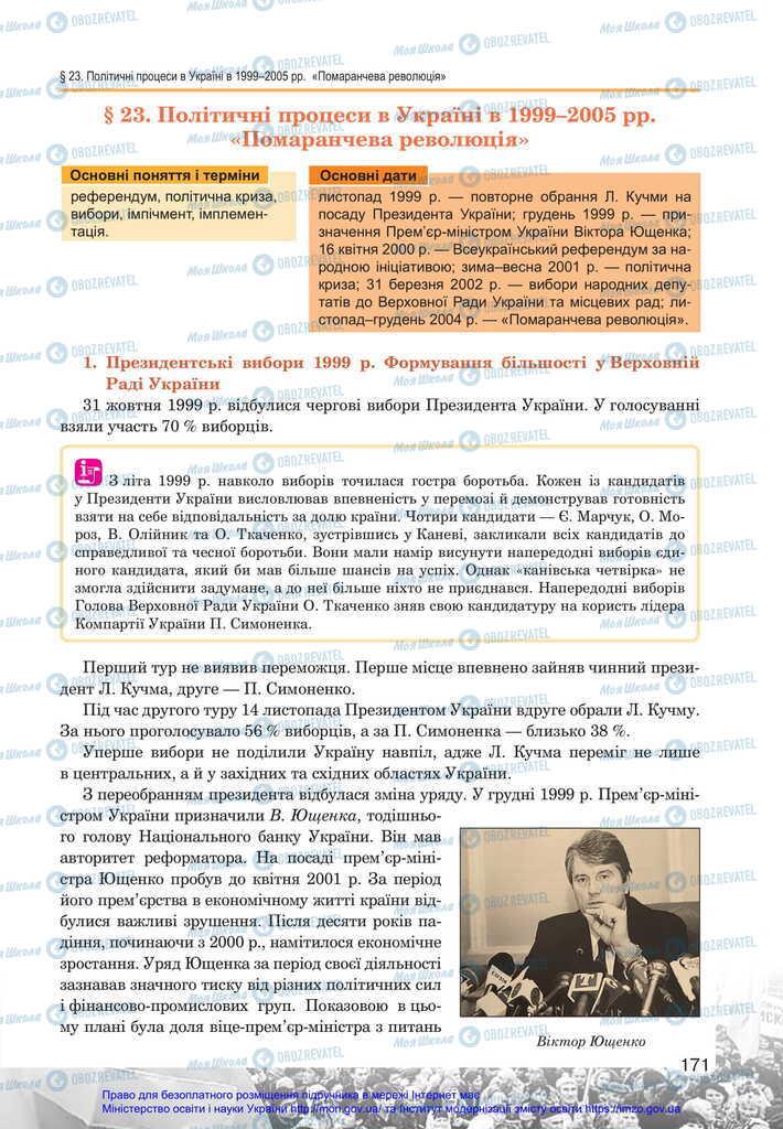Підручники Історія України 11 клас сторінка  171