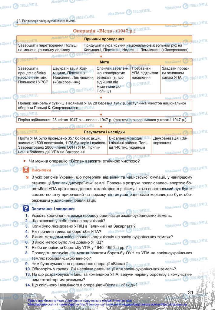 Підручники Історія України 11 клас сторінка 31