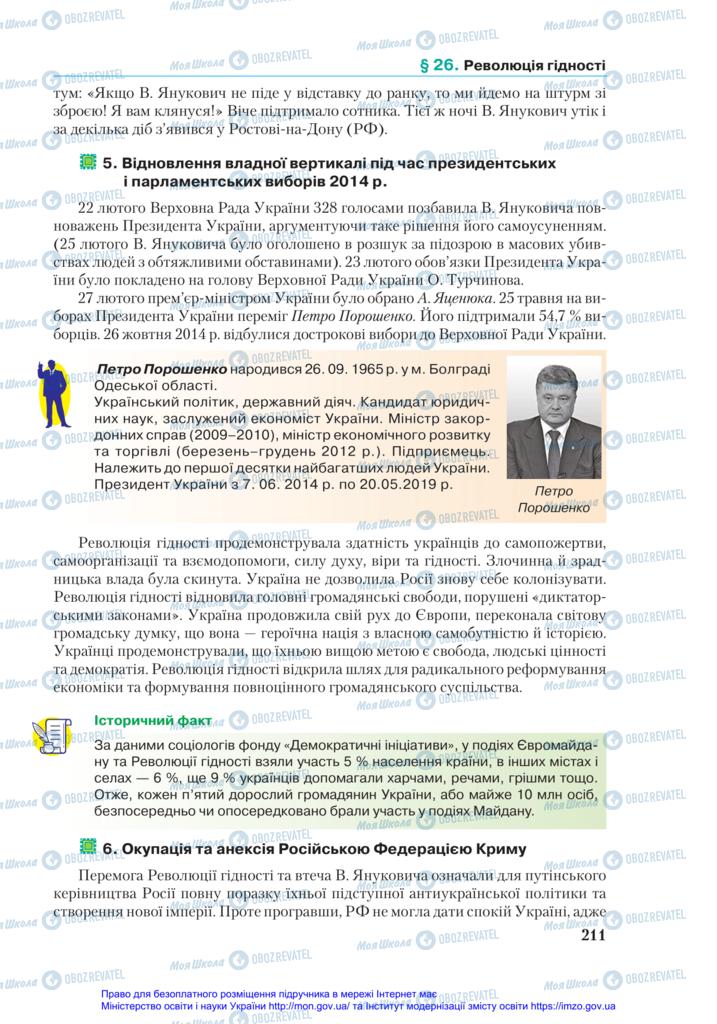 Підручники Історія України 11 клас сторінка 211