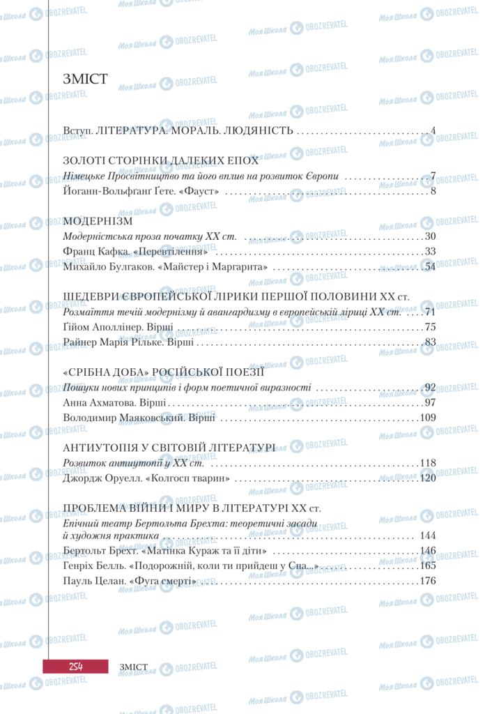 Учебники Зарубежная литература 11 класс страница 254