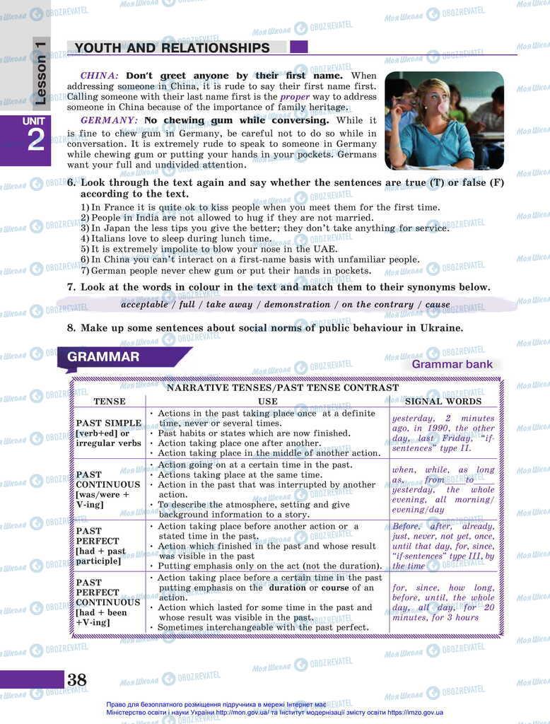 Підручники Англійська мова 11 клас сторінка 38
