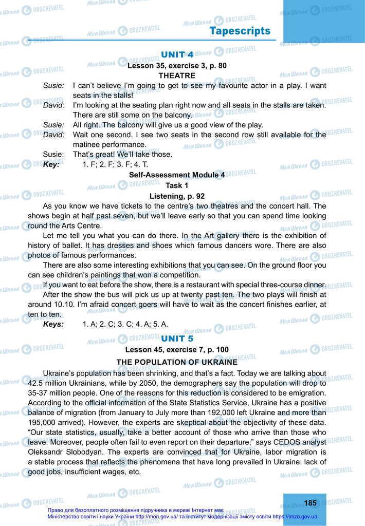 Підручники Англійська мова 11 клас сторінка 185