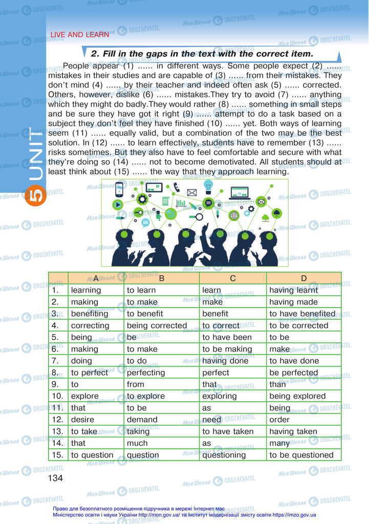 Підручники Англійська мова 11 клас сторінка 134