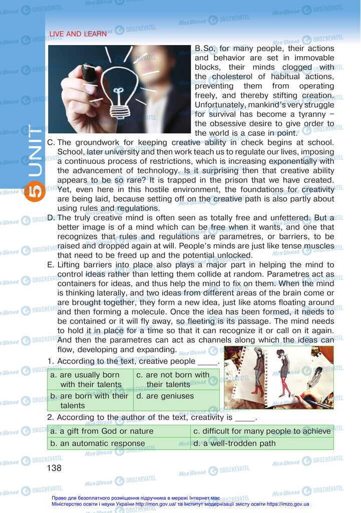 Підручники Англійська мова 11 клас сторінка 138