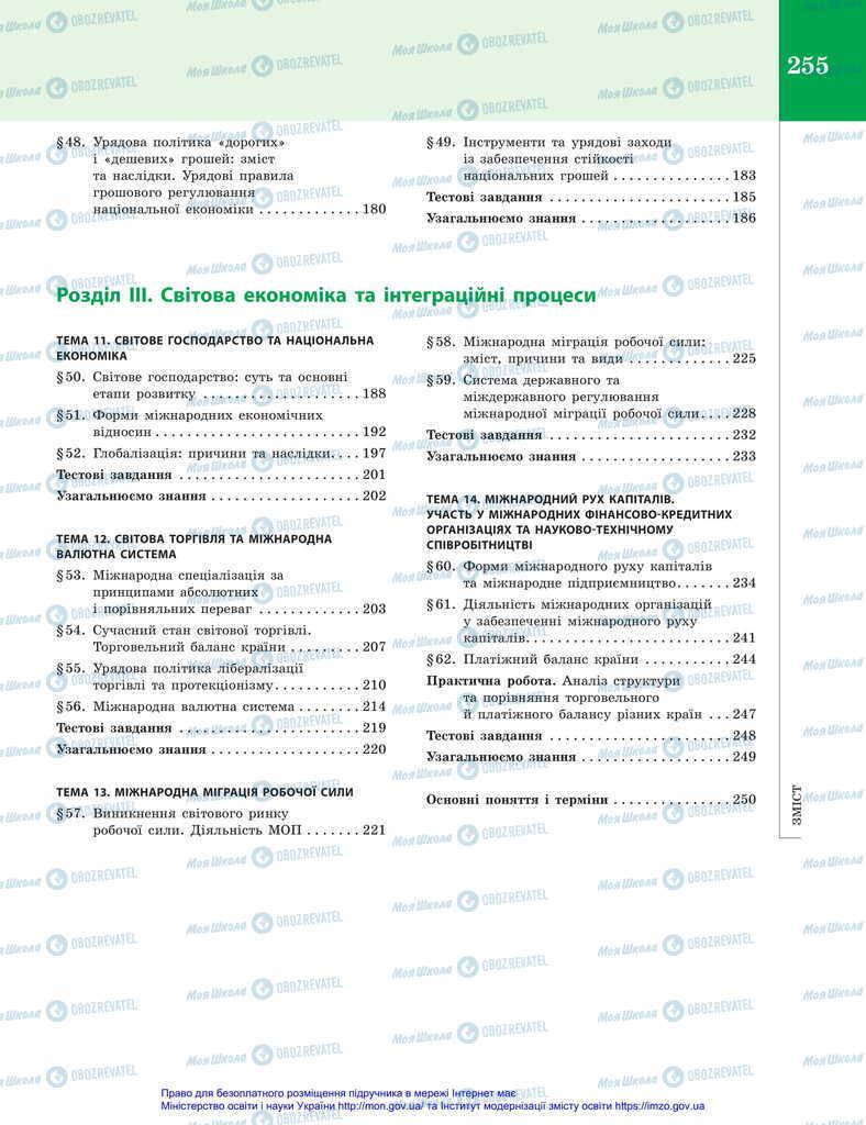Учебники Экономика 11 класс страница 255
