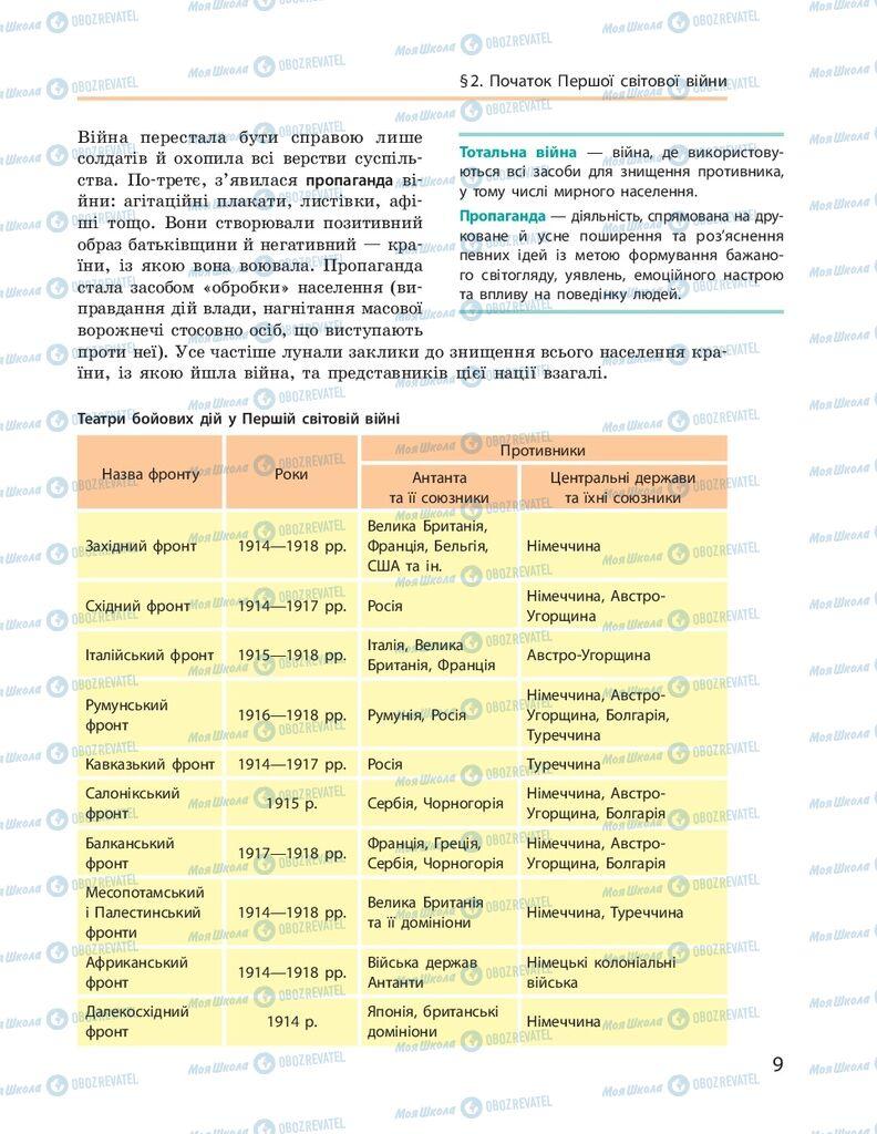 ГДЗ Всесвітня історія 10 клас сторінка  9