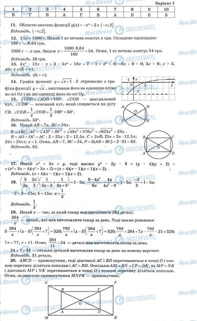 ДПА Математика 9 класс страница  26
