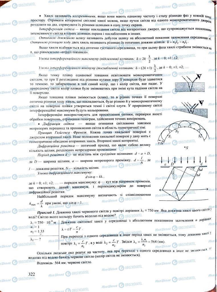 ЗНО Физика 11 класс страница  322
