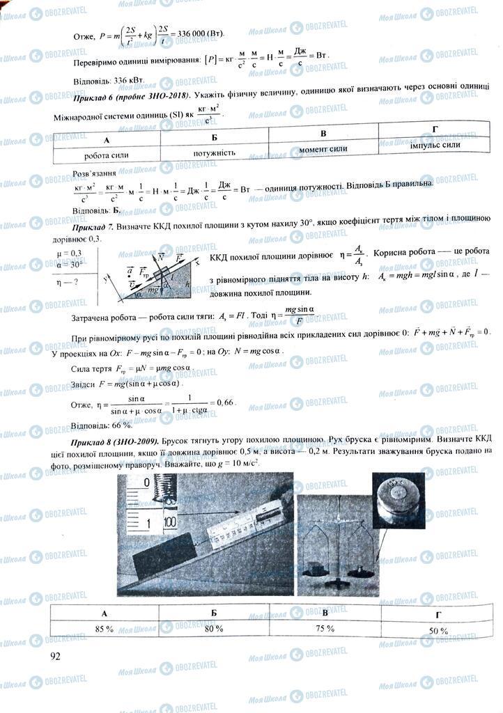ЗНО Физика 11 класс страница  92