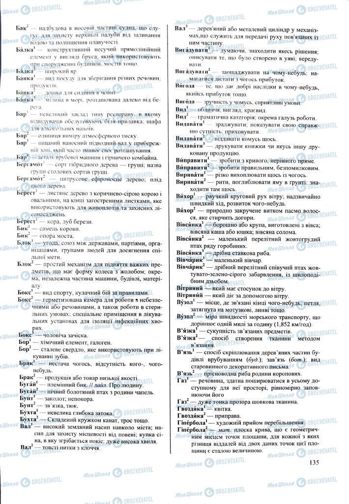 ЗНО Українська мова 11 клас сторінка  135
