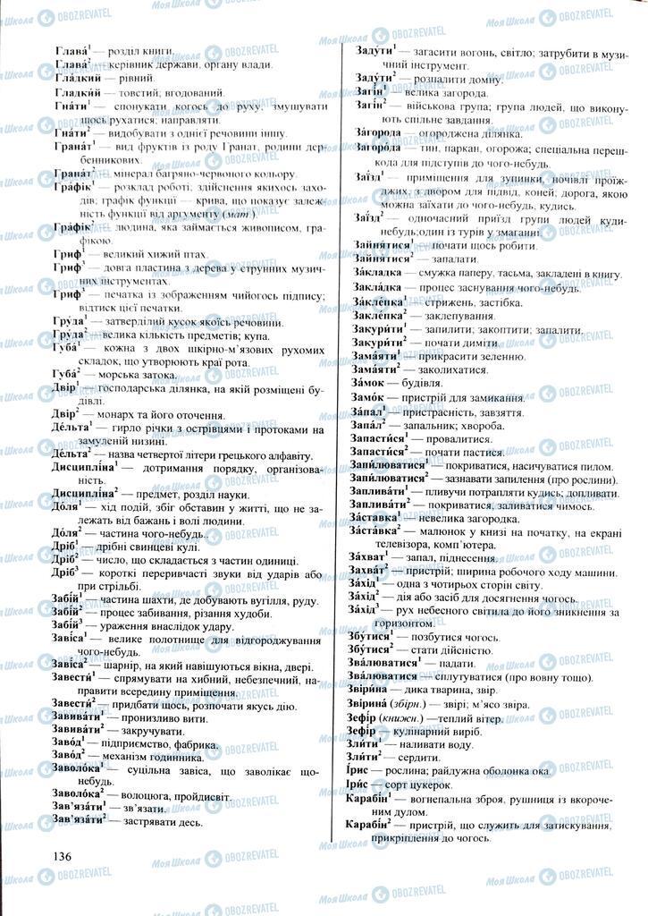 ЗНО Українська мова 11 клас сторінка  136