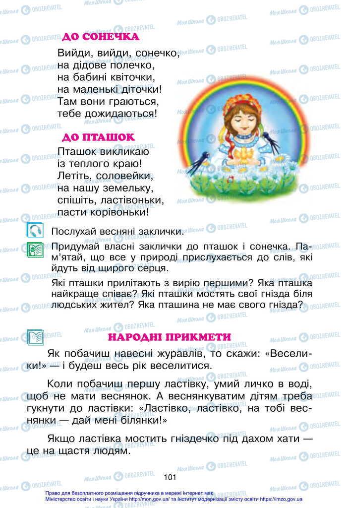 Підручники Українська мова 2 клас сторінка 101