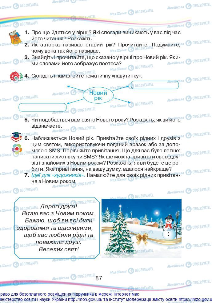 Підручники Українська мова 2 клас сторінка 87