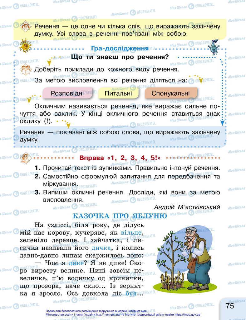 Підручники Українська мова 2 клас сторінка 75