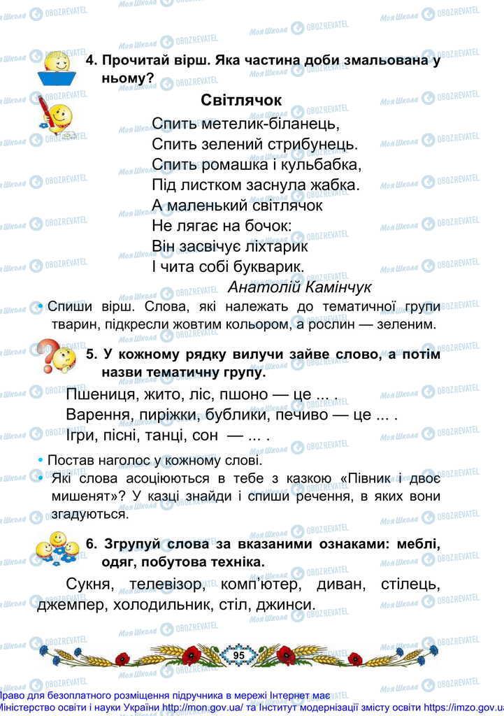 Підручники Українська мова 2 клас сторінка 95