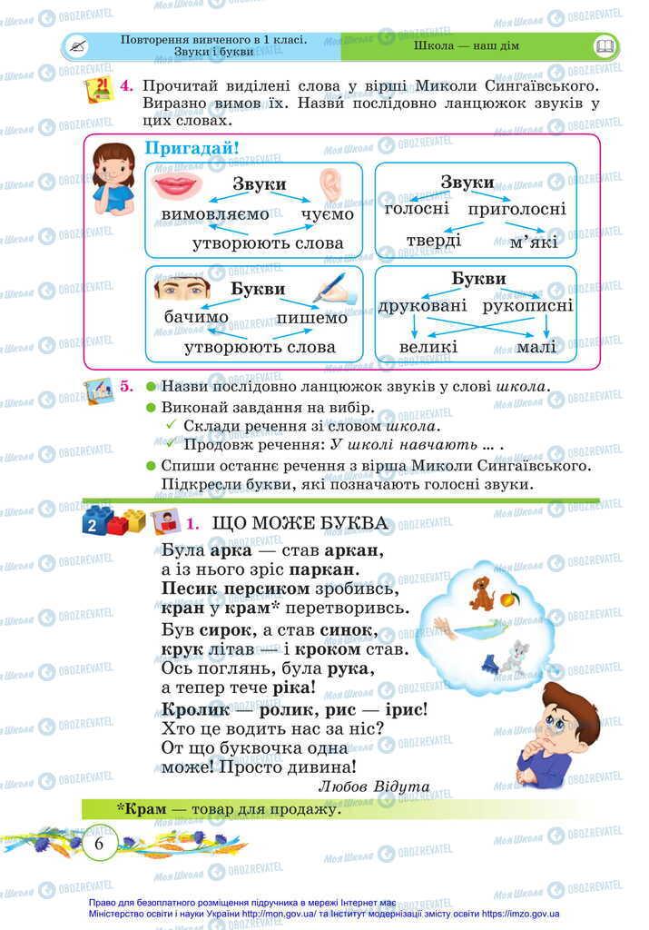 Підручники Українська мова 2 клас сторінка 6