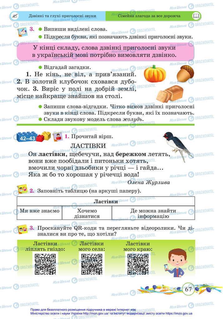 Підручники Українська мова 2 клас сторінка 67