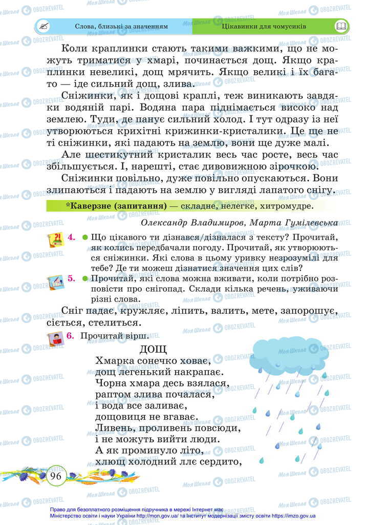 Підручники Українська мова 2 клас сторінка 96