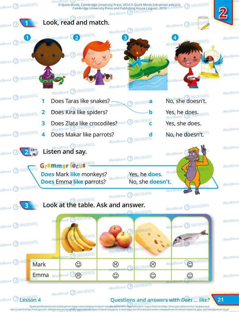Учебники Английский язык 2 класс страница 21