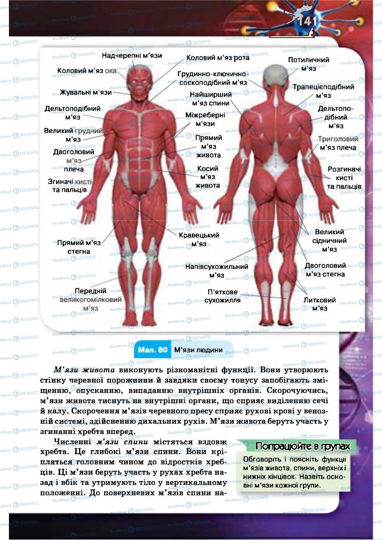 Учебники Биология 8 класс страница 141