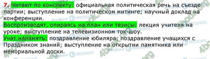 ГДЗ Русский язык 8 класс страница 7