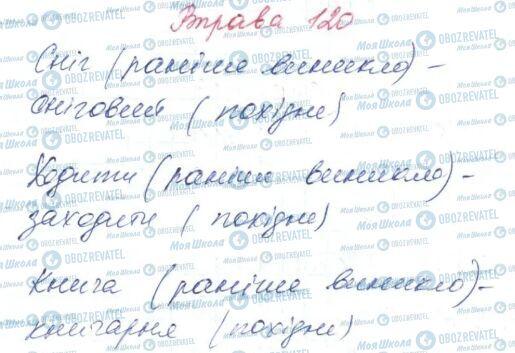 ГДЗ Українська мова 6 клас сторінка 120
