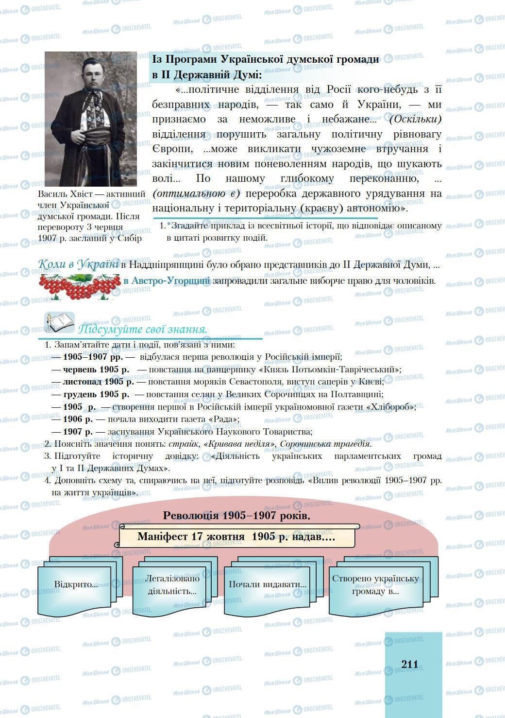 Учебники История Украины 9 класс страница 211