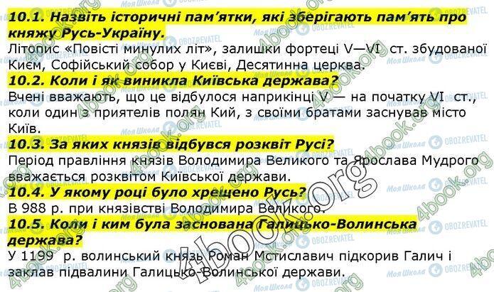 ГДЗ История Украины 5 класс страница 10.1-10.5