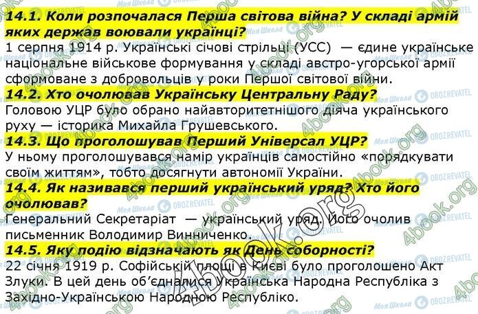 ГДЗ История Украины 5 класс страница 14.1-14.5