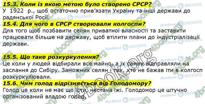 ГДЗ История Украины 5 класс страница 15.3-15.6