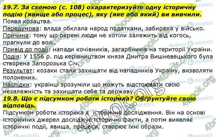 ГДЗ Історія України 5 клас сторінка 19.7-19.8
