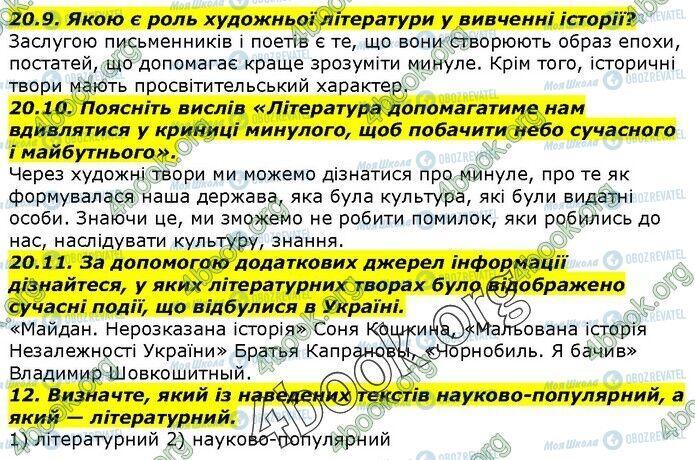 ГДЗ История Украины 5 класс страница 20.9-20.12