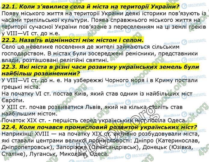 ГДЗ История Украины 5 класс страница 22.1-22.4
