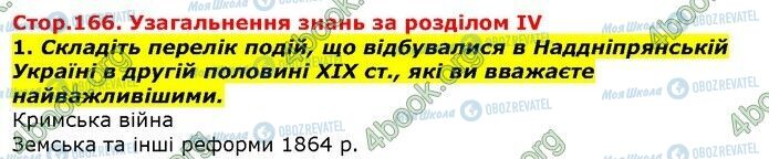 ГДЗ Історія України 9 клас сторінка Сторінка 166