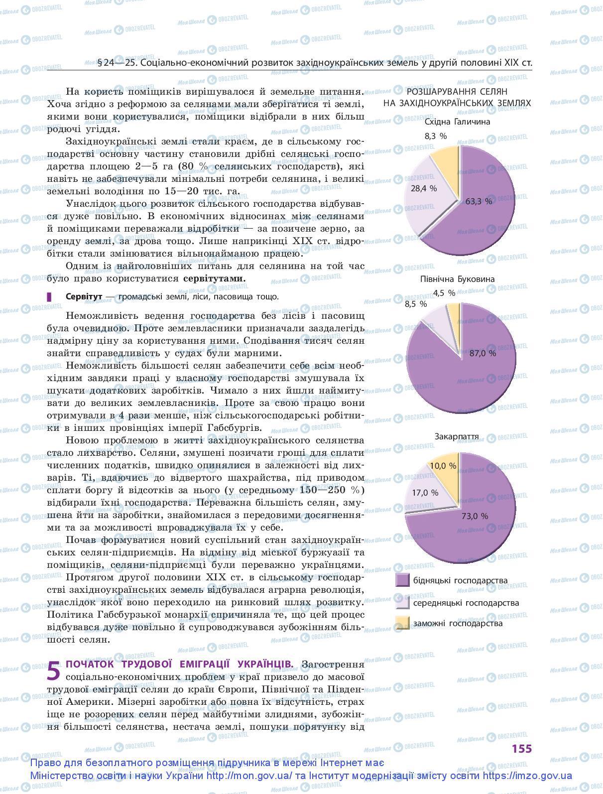 Учебники История Украины 9 класс страница 155