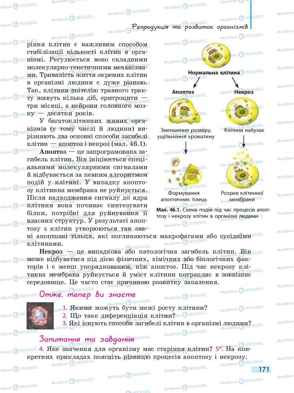 Учебники Биология 10 класс страница 171