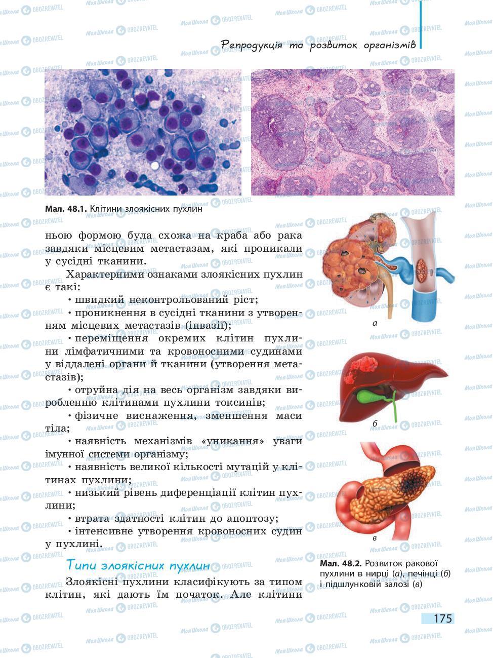 Підручники Біологія 10 клас сторінка 175