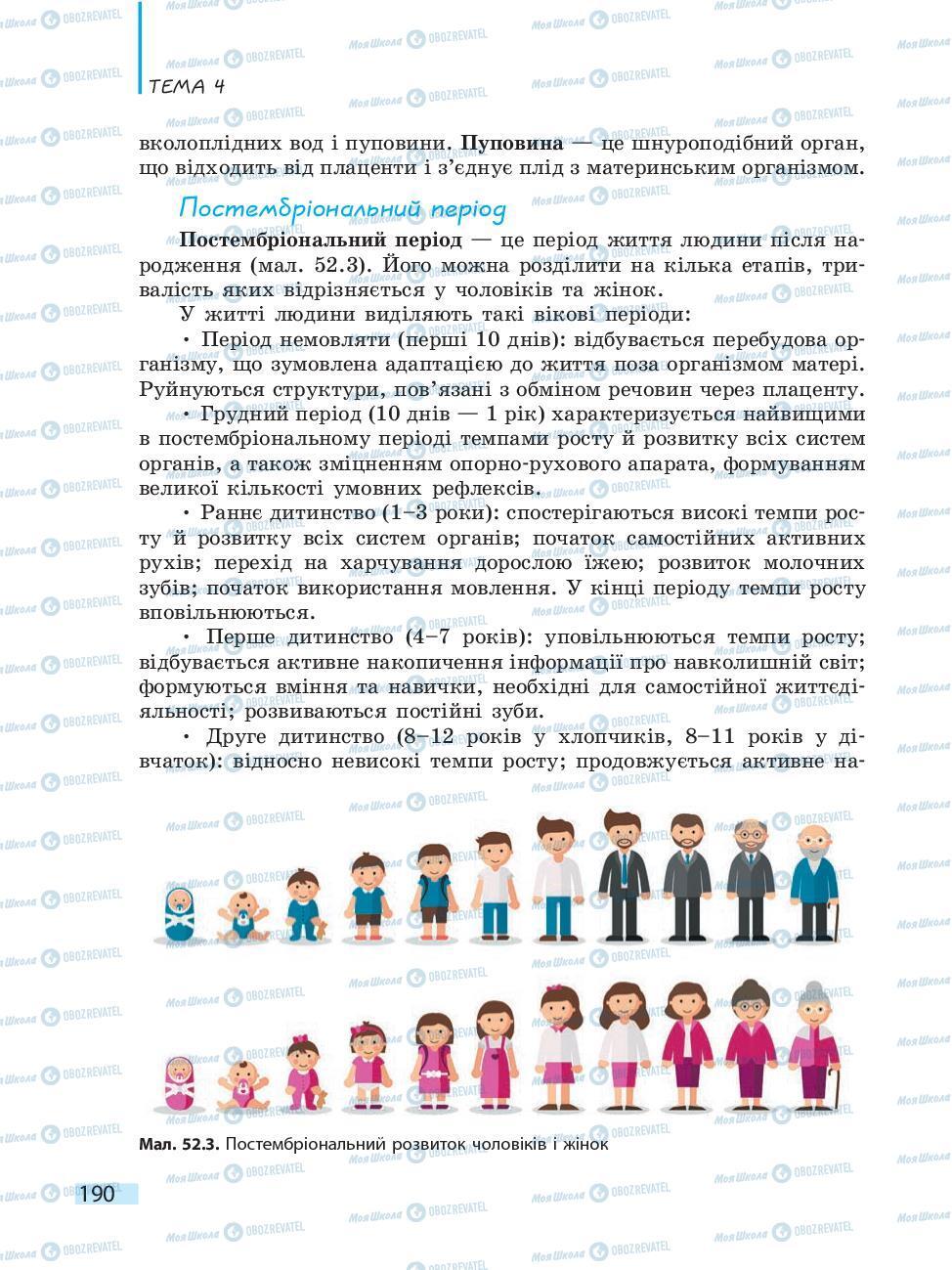 Учебники Биология 10 класс страница 190