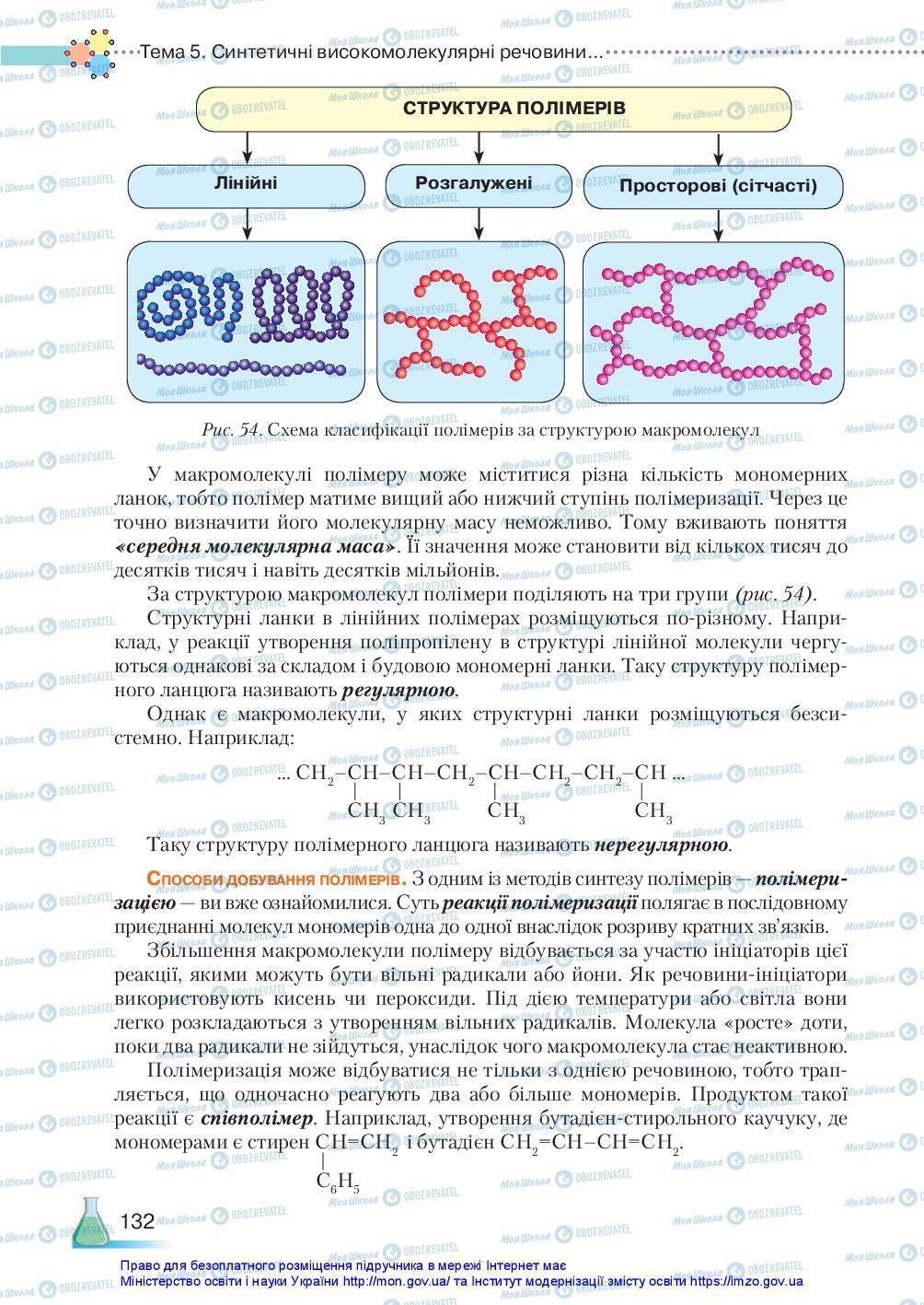 Підручники Хімія 10 клас сторінка 132