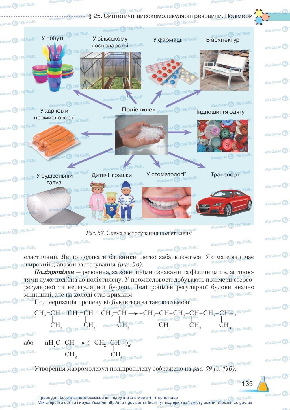 Підручники Хімія 10 клас сторінка 135