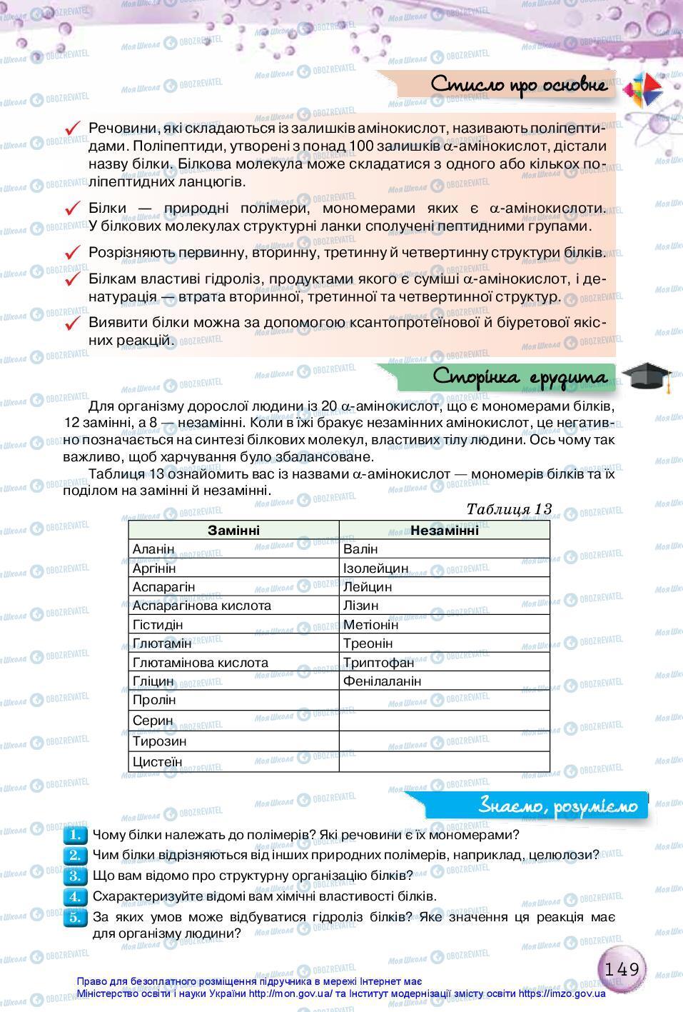 Підручники Хімія 10 клас сторінка 149